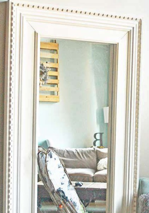 DIY Mongstad mirror makeover (via ikeahackers)