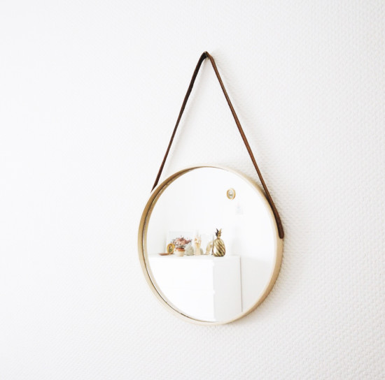 DIY suspended mirror (via ikeahackers)