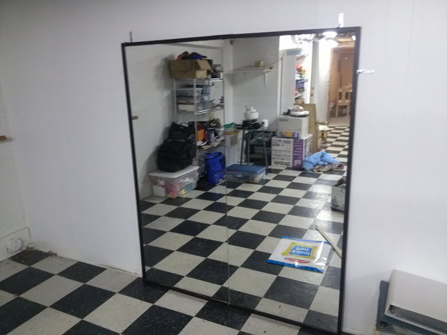 DIY large dance mirror