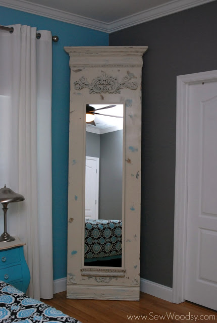 DIY Trumeau floor mirror (via ikeahackers)