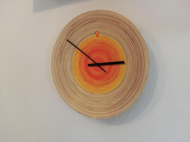 DIY IKEA bamboo dish clock