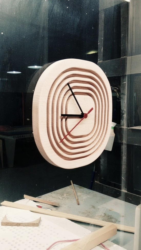 DIY Rusch wall clock hack (via ikeahackers)