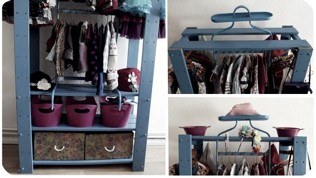 DIY closet from several IKEA units (via lifehacker)