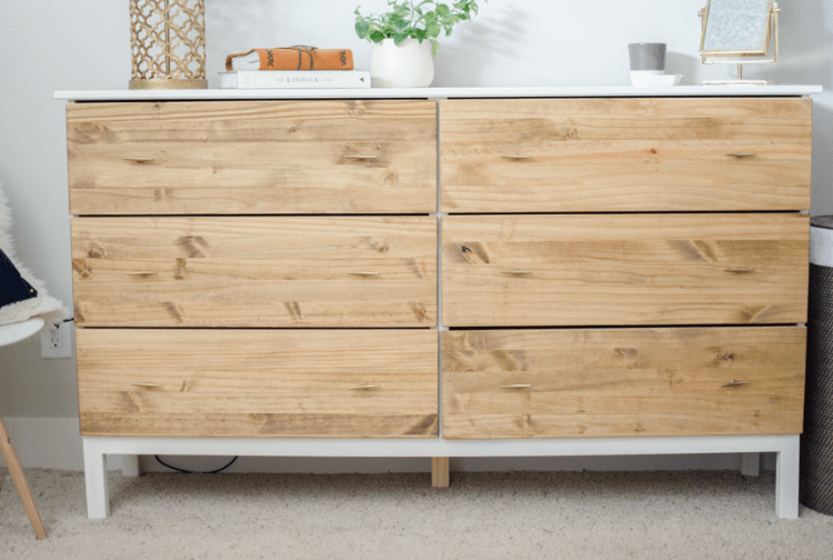 DIY dresser hack (via thegroupinc)