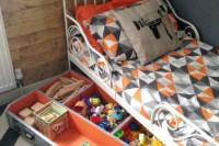DIY bed drawer toy storage