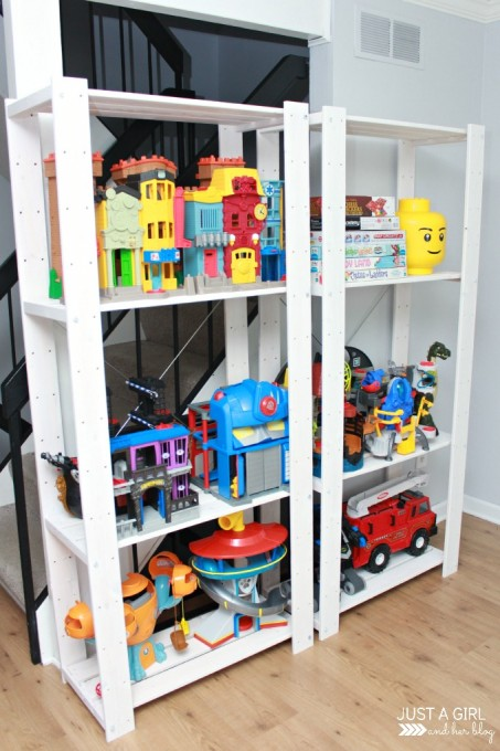 8 cool diy ikea hacks for kids toy storage shelterness - Toy shelves ikea ...