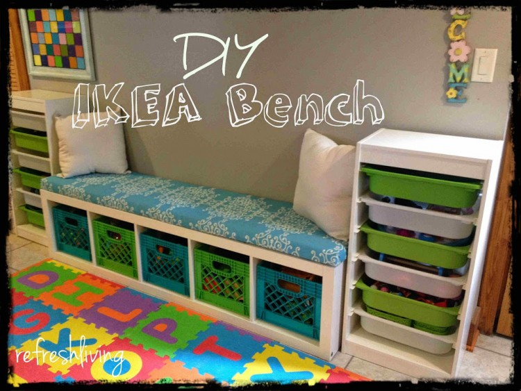 Diy Storage Bench Via Refreshliving