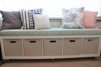 DIY Expedit toy storage bench