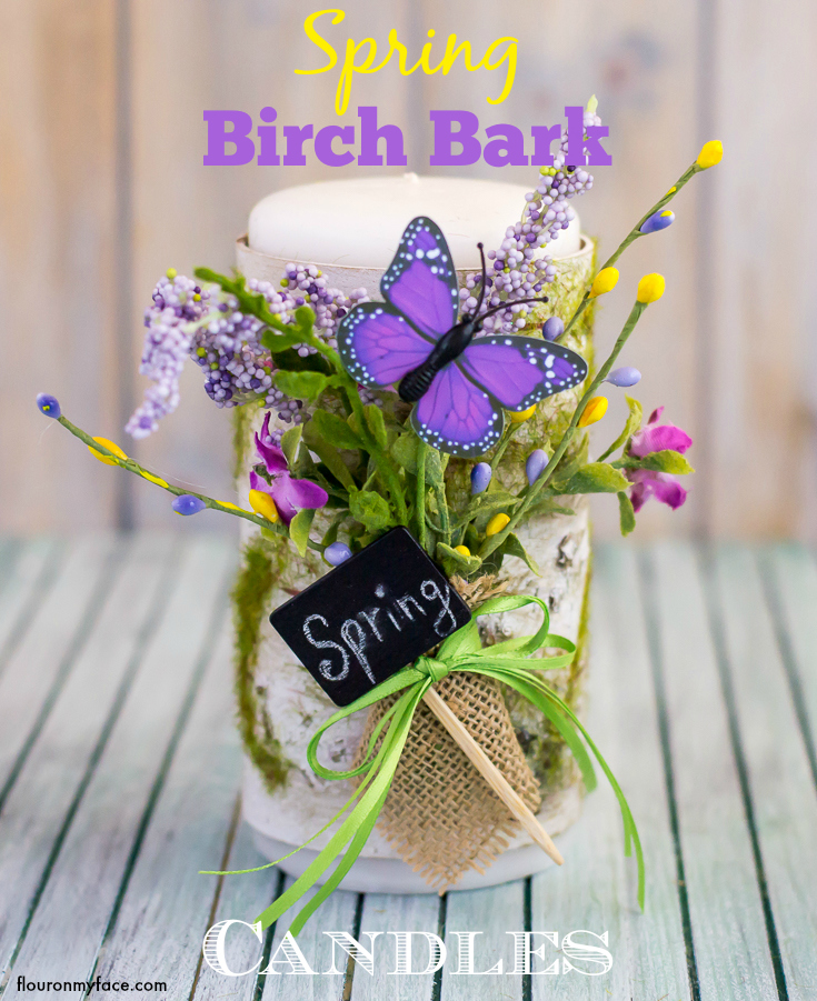 DIY spring birch bark candles (via flouronmyface)