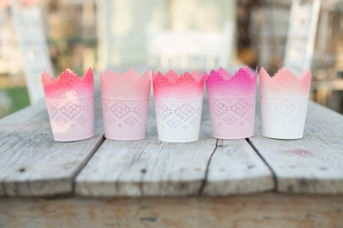 DIY ombre candle votives (via thehousethatlarsbuilt)
