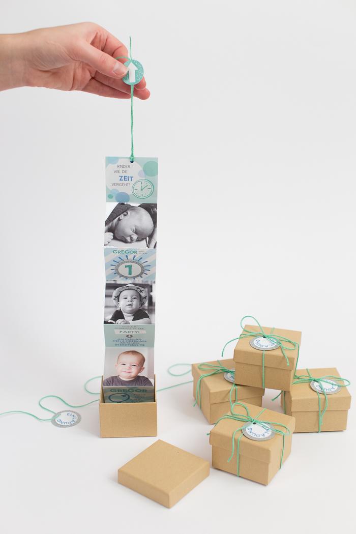 creative diy birthday invitations in a box   shelterness