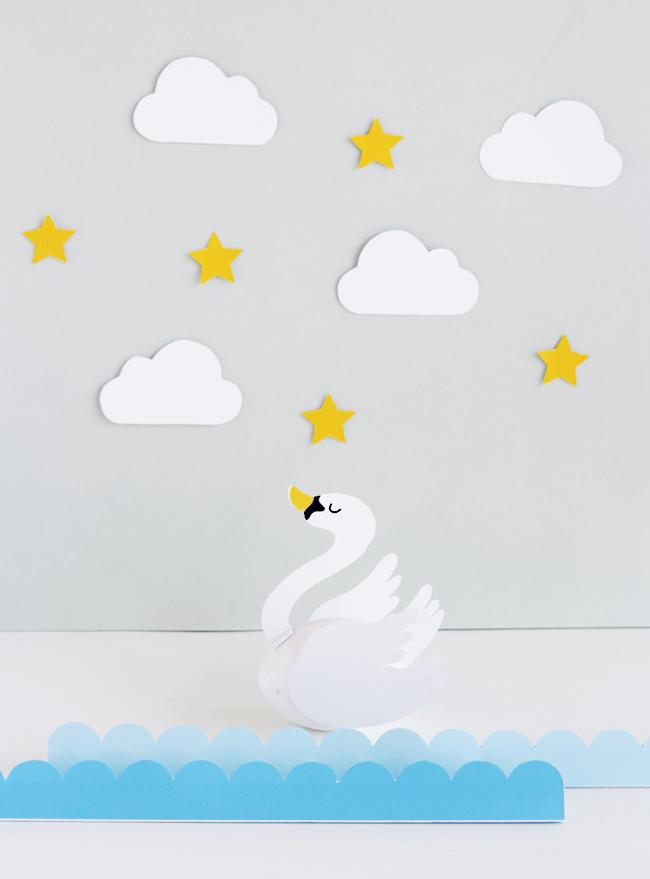 DIY Black And White Swan Easter Eggs
