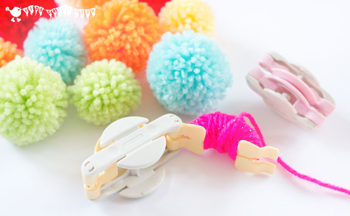 DIY Colorful And Soft Pompom Mobile