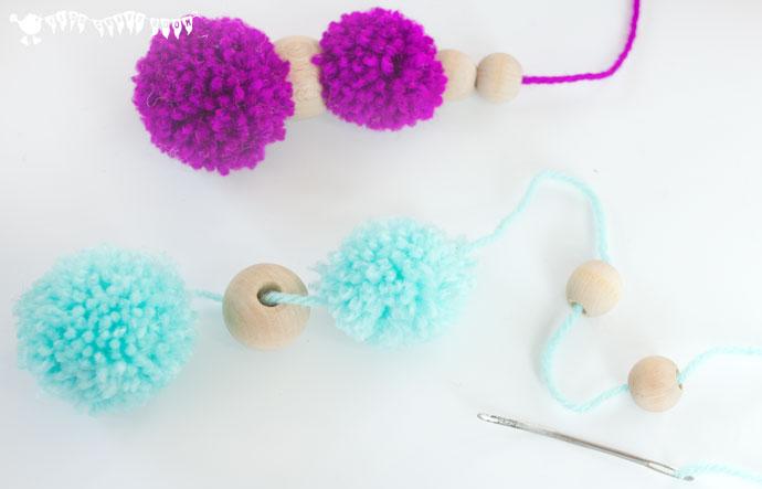 DIY Colorful And Soft Pompom Mobile