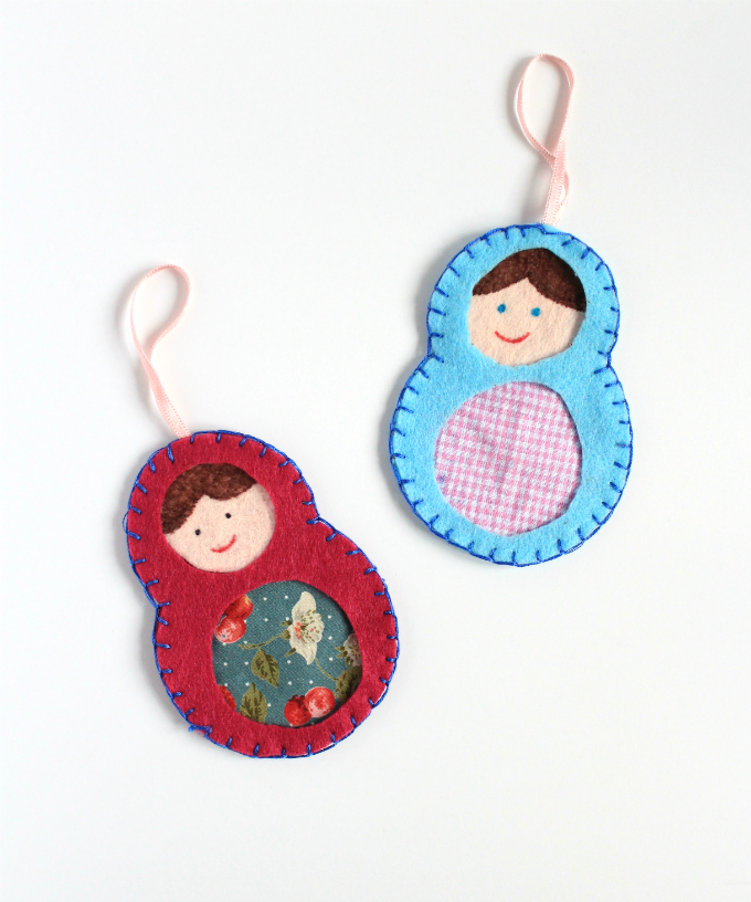 DIY Colorful Matryoshka Felt Bookmark