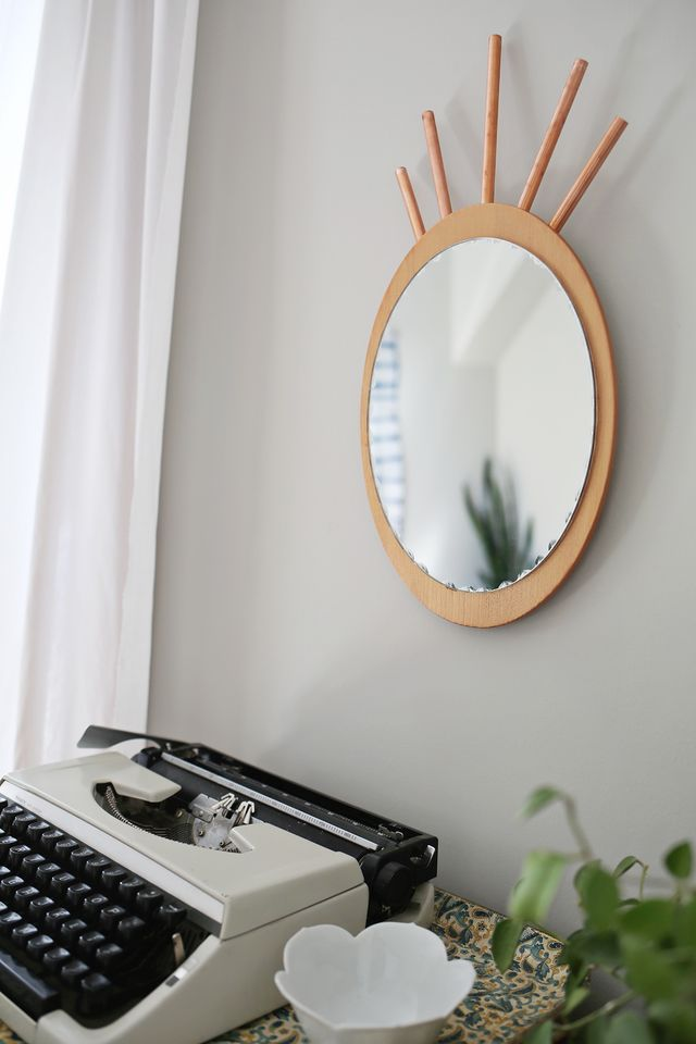 Cute DIY Copper Pipe Pineapple Mirror