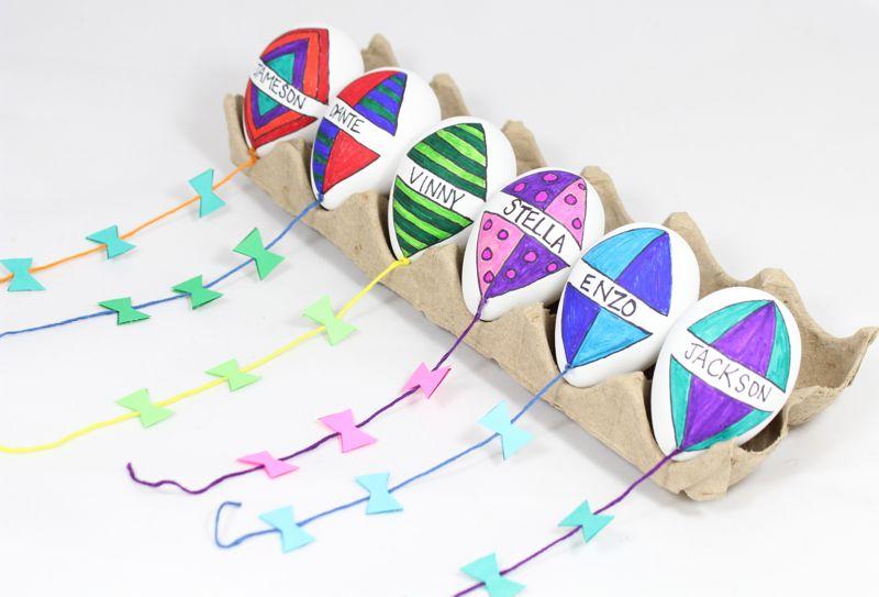 DIY kite Easter eggs