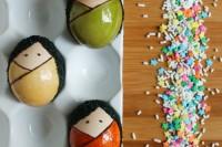 DIY kokeshi Easter eggs