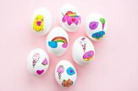DIY sticker art eggs