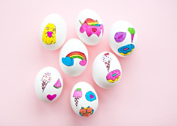 DIY sticker art eggs (via hellowonderful)