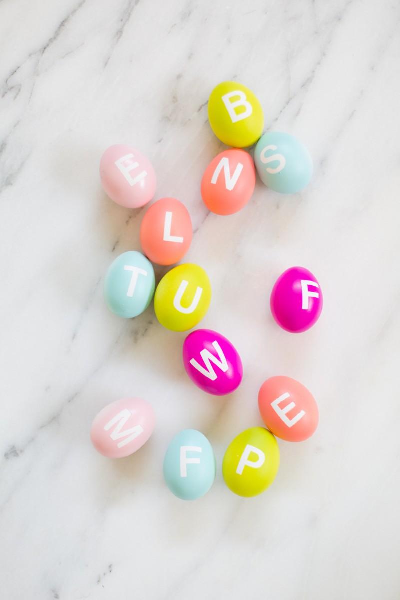 DIY alphabet eggs