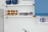 DIY open kitchen shelves
