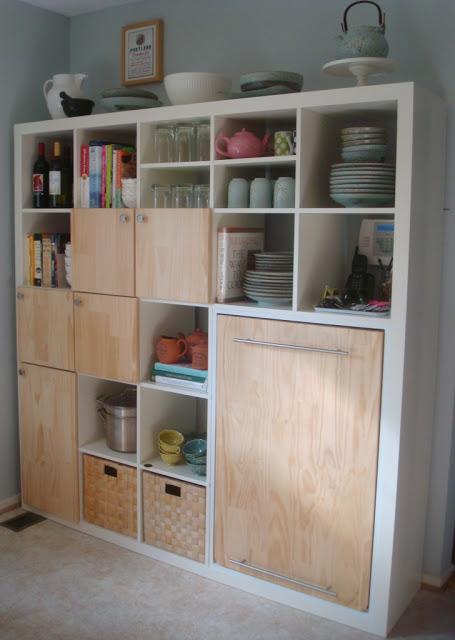 DIY Expedit storage (via ikeahackers)