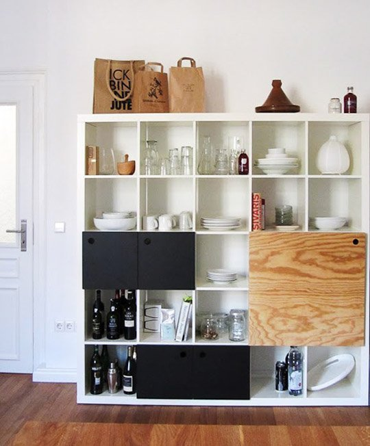 DIY Expedit hack for dishes