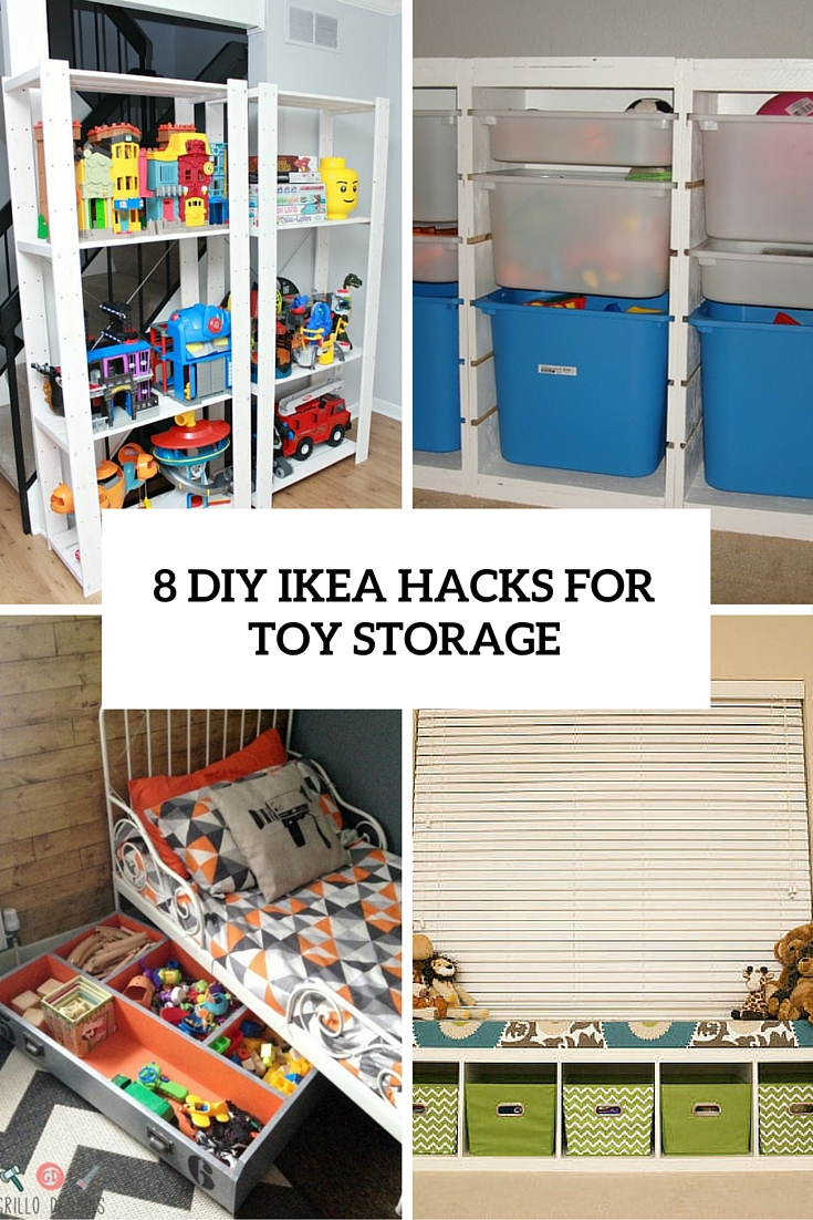 8 Cool DIY IKEA Hacks For Kids' Toy Storage