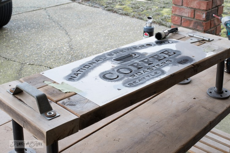 DIY Industrial Kitchen Phone Station Shelf