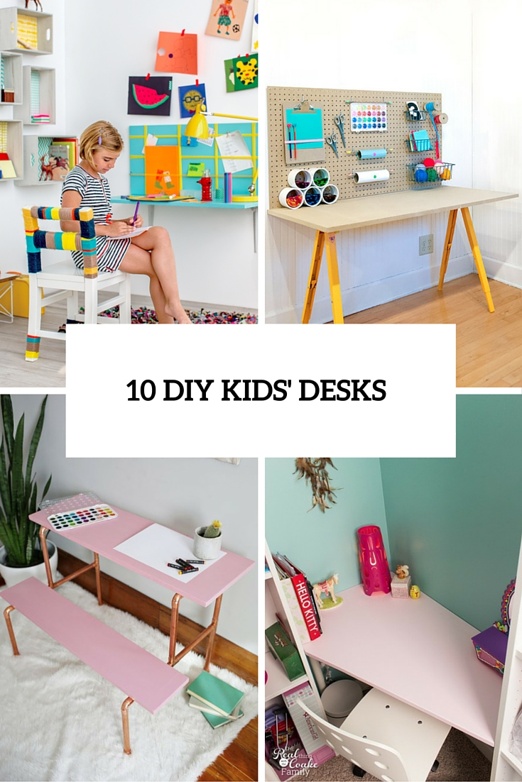 10 DIY Kidsu0027 Desks For Art, Craft And Studying