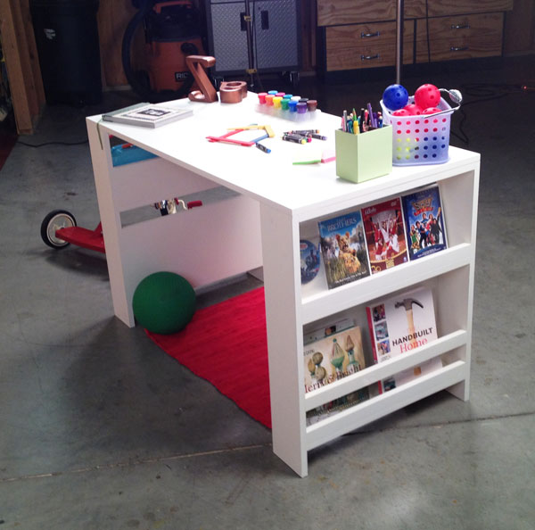 DIY kid storage desk (via ana-white)