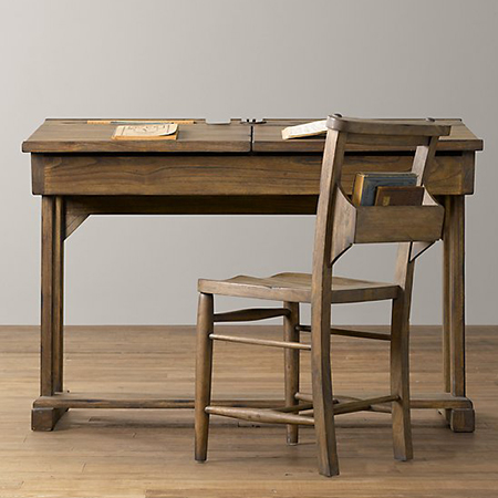 DIY school desk (via home-dzine)