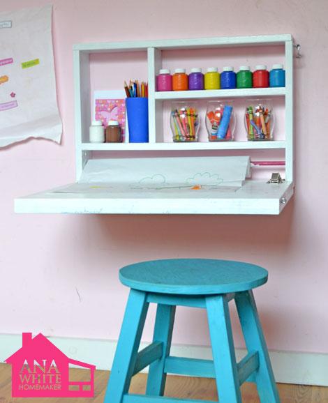 DIY wall art desk (via homedit)