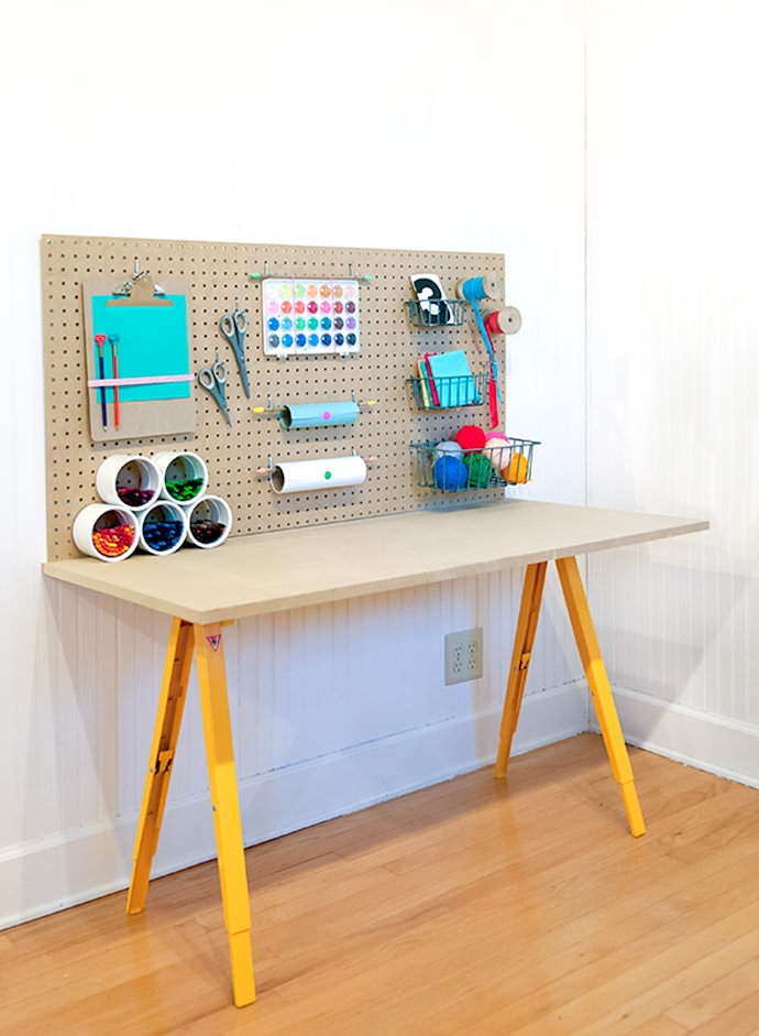 DIY crafting desk for your kids (via handmadecharlotte)
