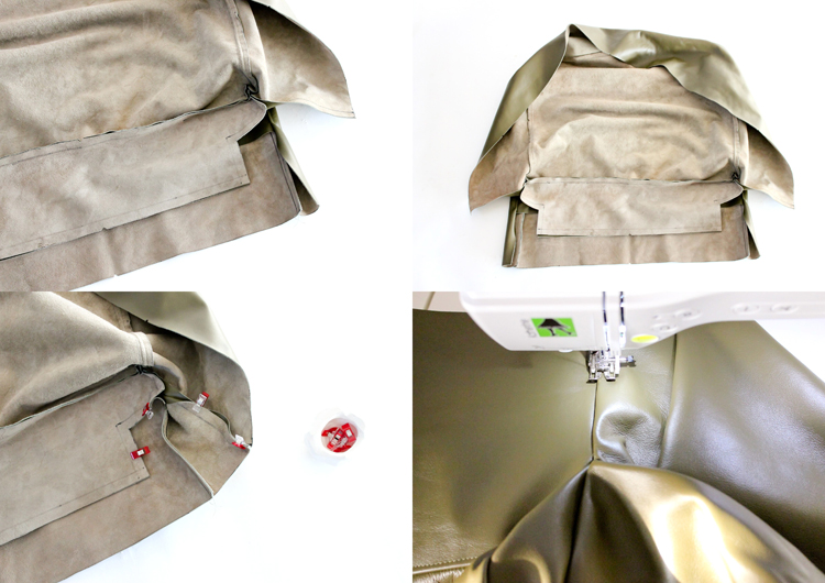 Picture Of diy leather upholstery slipcover for your furniture  8