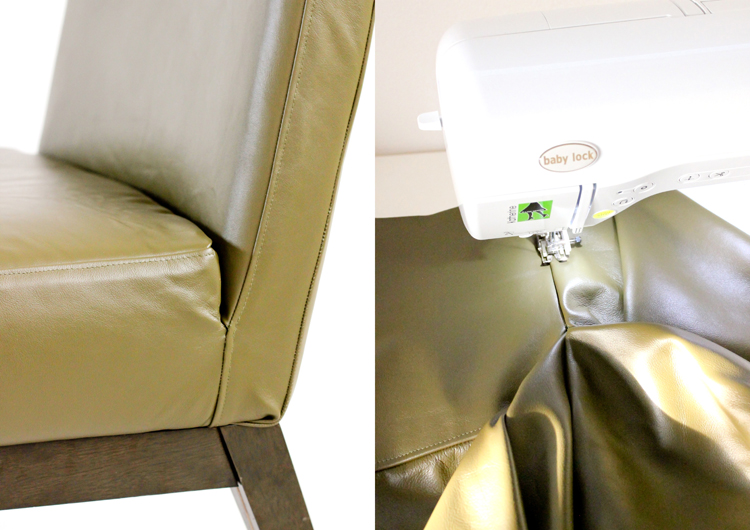 Picture Of diy leather upholstery slipcover for your furniture  9