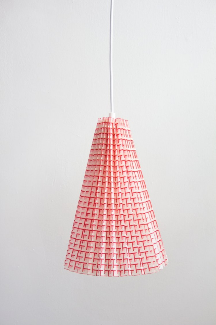 DIY No Sew Fabric Pleated Pendant Lamp