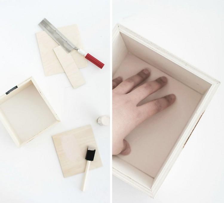 DIY Pastel Shadow Box Shelves For Spring Decor