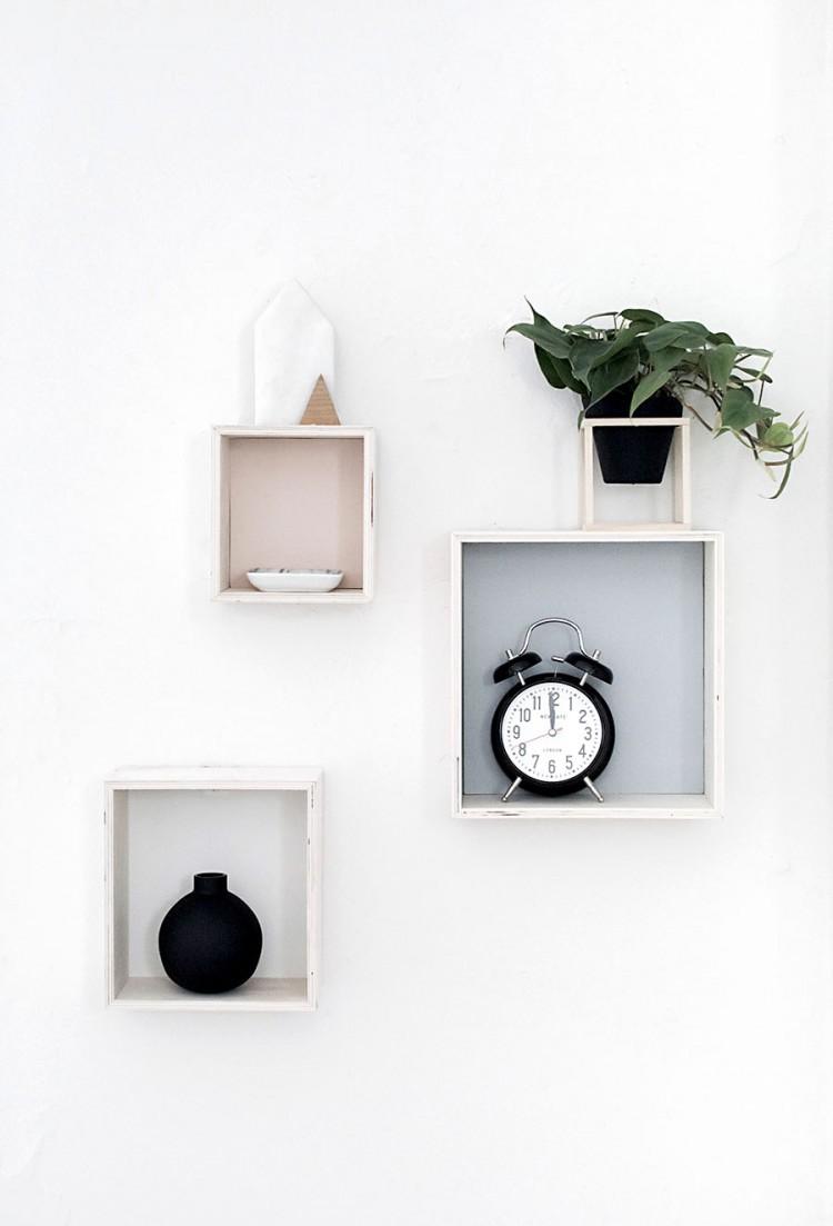 Diy Pastel Shadow Box Shelves For Spring Decor Shelterness