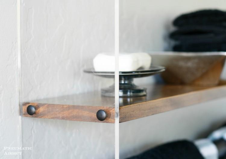 Diy Wood And Acrylic Bathroom Shelf Shelterness