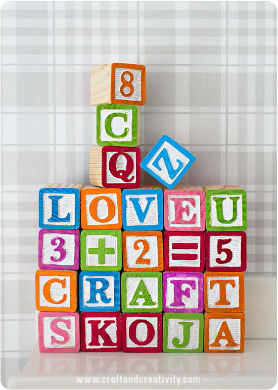 DIY colorful wooden blocks (via craftandcreativity)
