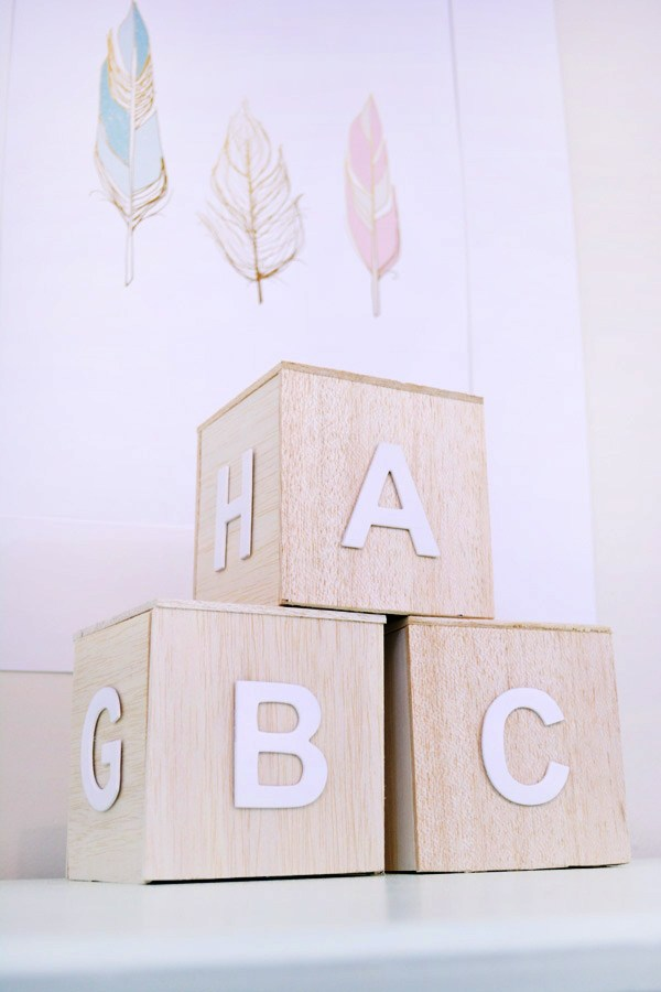 DIY minimal alphabet blocks