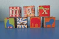 DIY personalized wooden blocks