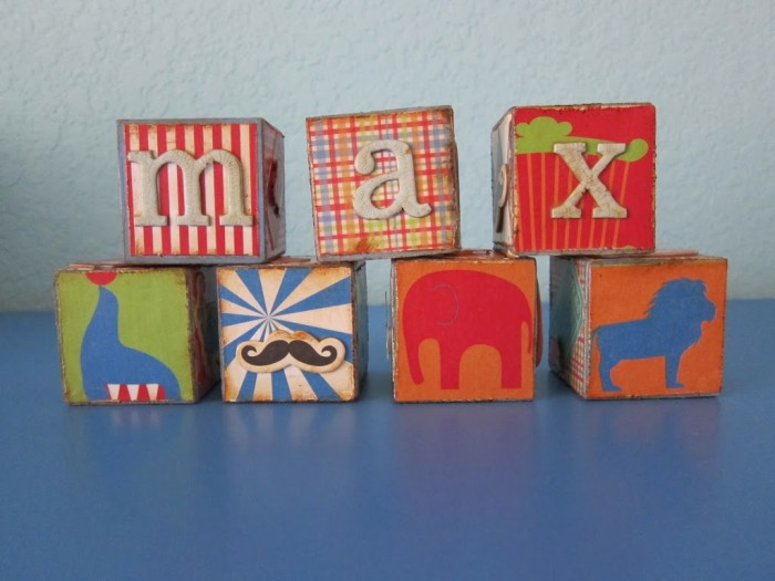 DIY personalized wooden blocks (via morenascorner)