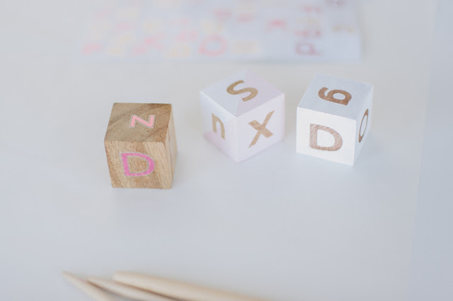 DIY alphabet wooden blocks (via thepartyparade)