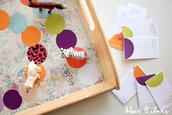 12 easy diy board games to have fun with your kids shelterness diy tray board game via bluetandclover solutioingenieria Image collections