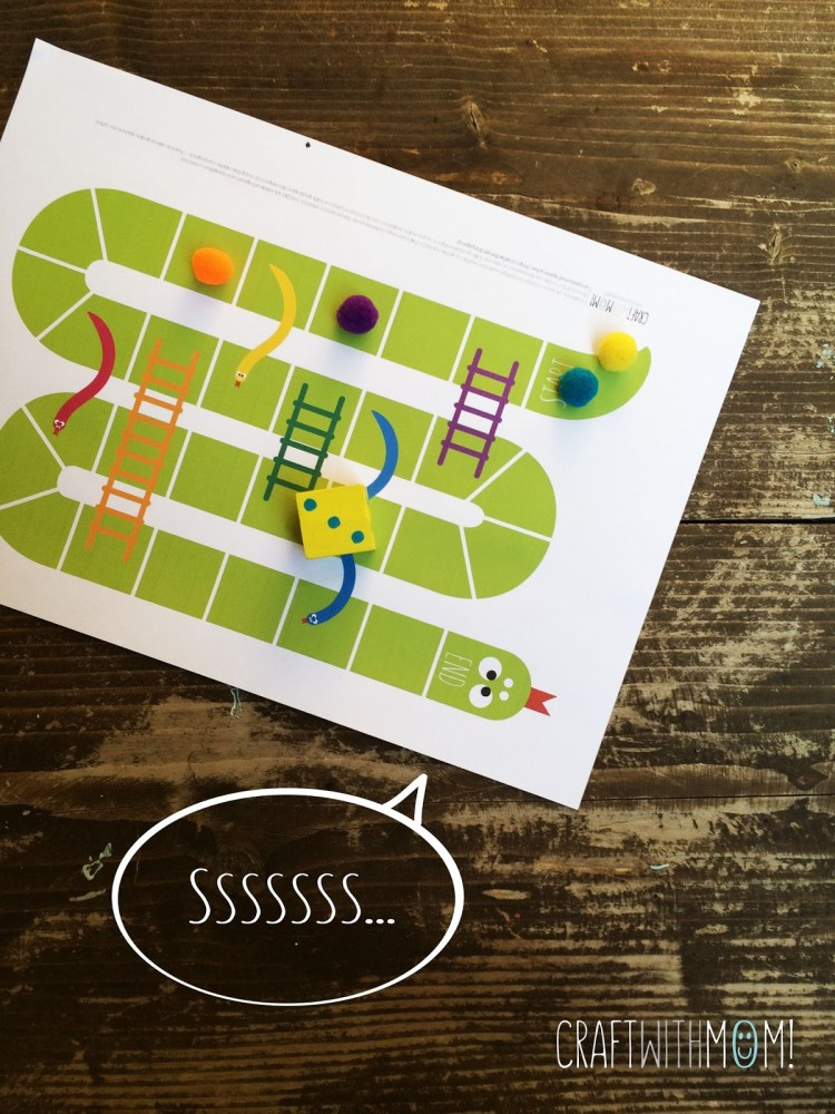 12 easy diy board games to have fun with your kids shelterness diy snakes ladder game via craftwithmom solutioingenieria Image collections