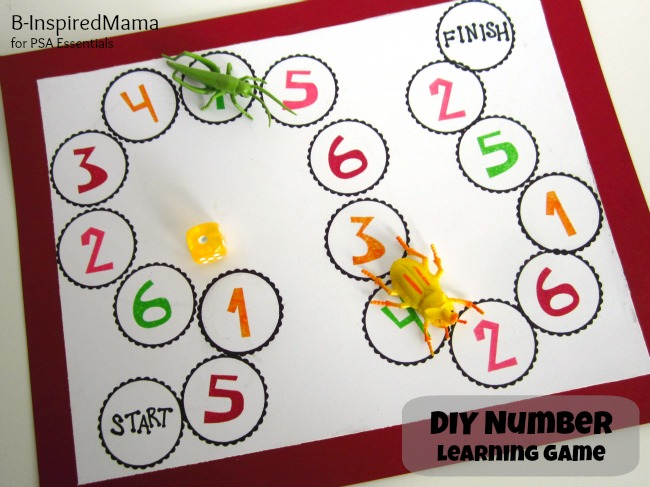 DIY number learning game