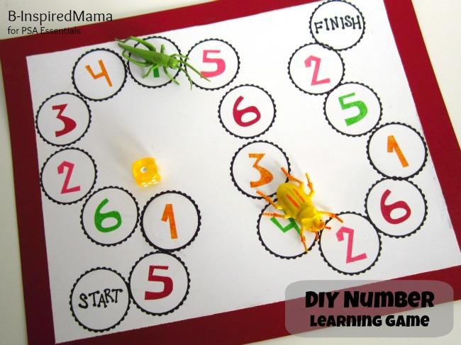 DIY number learning game (via b-inspiredmama)